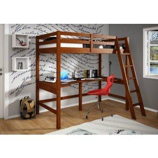 Dormitorio. Deliciosa cama loft de tamaño completo con escaleras para ...