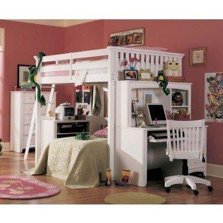 camas tipo loft de tamaño completo con escaleras: estilo Full ...