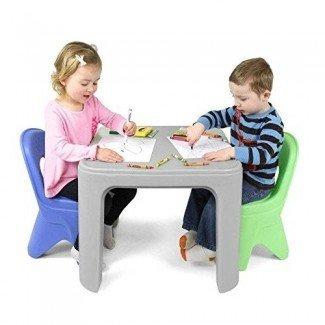 Simplay3 Juego de mesa y silla duraderos para niños para jugar