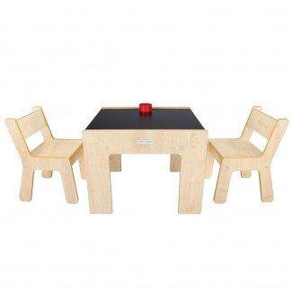 Little Helper FunStation Duo Mesa para niños pequeños y 2 sillas