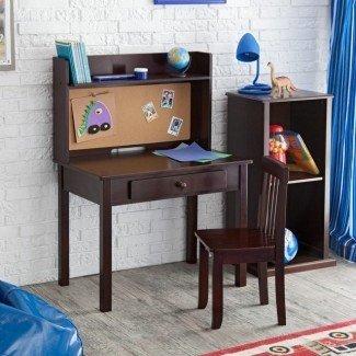 KidKraft Pin Board Desk con Hutch & Chair - Contemporáneo