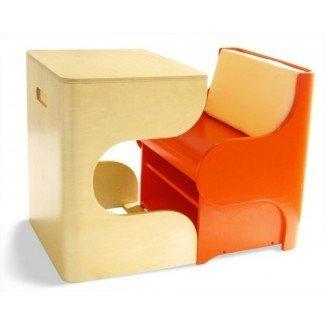 Muebles para niños que ahorran espacio: escritorio y silla Pkolino Klick