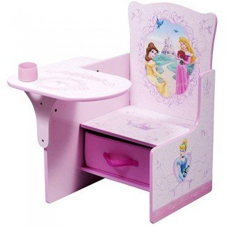 Disney - Princess Escritorio y silla con compartimiento de almacenamiento: niño pequeño