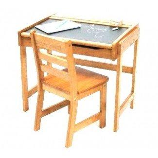 Escritorio para niños pequeños con silla adjunta  