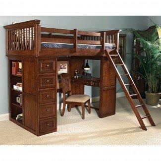 planes para una cama alta con escritorio | Descubre