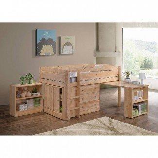 Cama alta tamaño loft con escritorio. Full Size Of Bunk