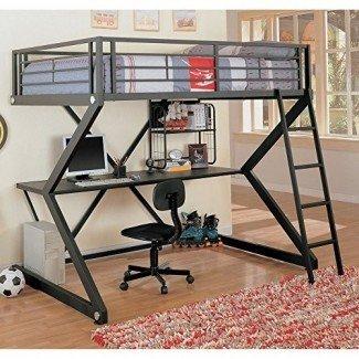 Coaster Furniture Bunks Workstation Cama loft completa - Negro mate