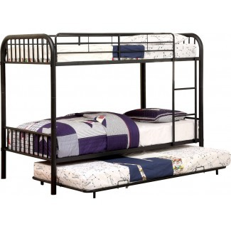 Sonya Twin sobre litera doble con cama nido