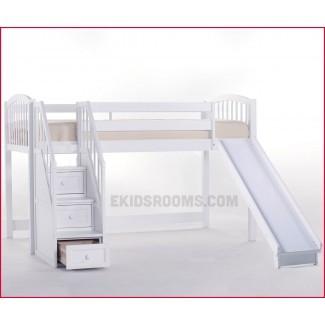 Elegantes literas Stock de literas bajas con Escaleras