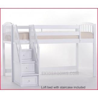 Elegantes literas en stock de literas bajas con escaleras