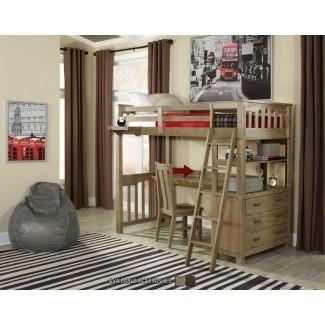Cama loft Bedlington con escritorio