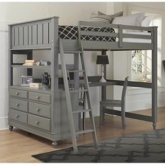 Rosebery Kids Full Loft Bed con escritorio en piedra