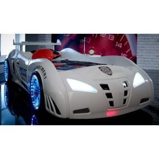Cama de coche de carreras Police de Speedster - Tienda de cama de coche |