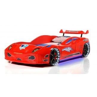 Enzo - Rojo | Camas de coche de carreras para niños -