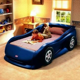 Camas de coches de carreras para habitaciones de niños