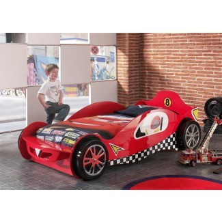 Marco de cama Red Race Car Novelty | Camas para niños |