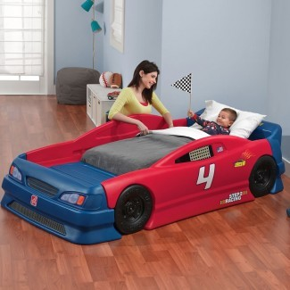 Cama convertible Stock Car | Cama para niños | Step2