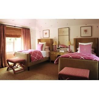 Ropa de cama de celosía - Contemporáneo - habitación para niñas - Phoebe Howard