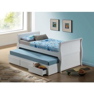 Dormitorio: linda cama nido blanca para una adolescente inspiradora ...