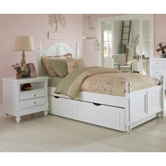 Dormitorio: linda cama nido blanca para adolescente inspiradora ...