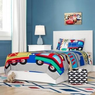Juego de ropa de cama para niños pequeños de 4 piezas Abeer Choo Choo