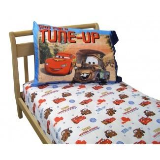 Juego de ropa de cama para niños pequeños de 2 piezas del equipo Disney Cars Lightning McQueen