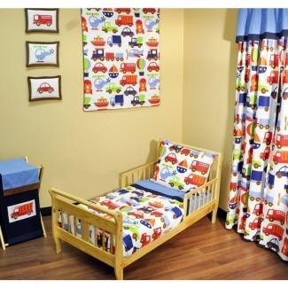 Juego de cama Carreon de 4 piezas para niños pequeños