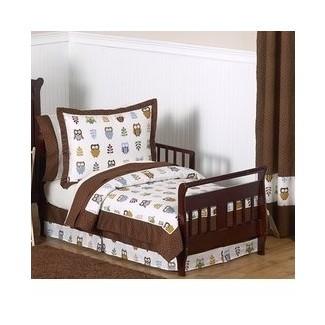 Night Owl Juego de cama para niños pequeños de 5 piezas