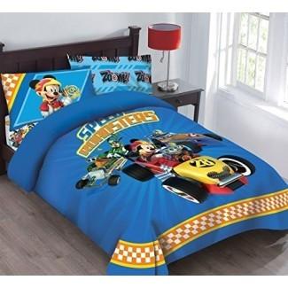 Juego de edredón con licencia Speed Roadster de Disney Mickey Mouse con sábana ajustable