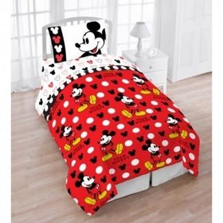 Juego de cama con personaje de 4 piezas Mickey Mouse de Disney -
