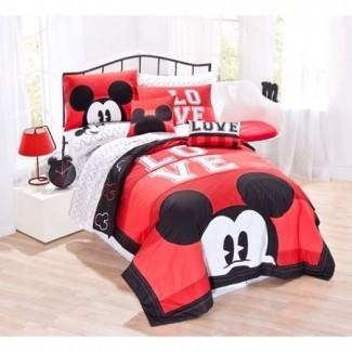 Juego de edredón de cama clásico Luv Disney Mickey Mouse ...