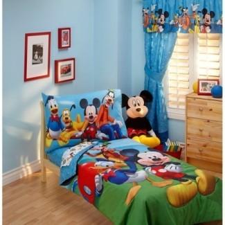 Disney - Mickey Mouse Playground Pals 4pc Ropa de cama para niños pequeños ...