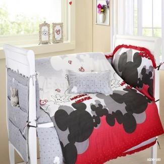 Mickey Mouse Baby Bedding Cuna Conjuntos de cuna Ropa de cama de guardería ...