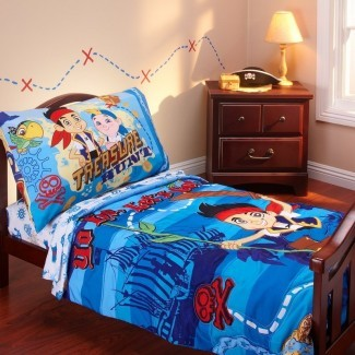 Juego de ropa de cama para niños de 4 piezas Jake and the Neverland Pirates