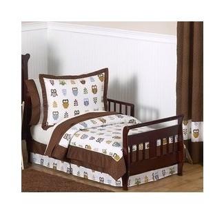 Juego de cama para niños pequeños de 5 piezas Night Owl