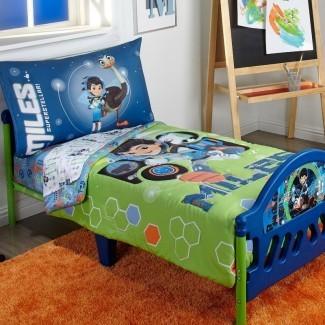 Juego de cama para niños pequeños de 4 piezas de Tomorrowland