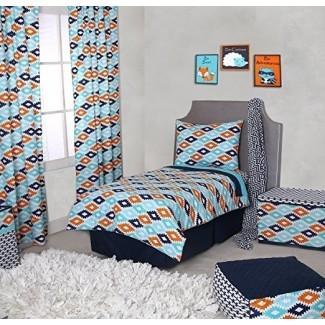 Juego de ropa de cama para niños pequeños Rovel de 4 piezas