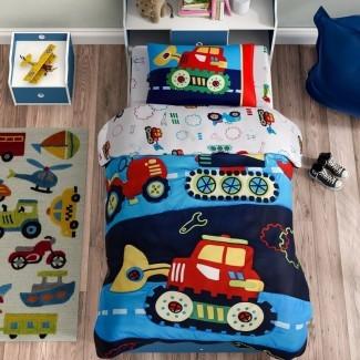 Juego de ropa de cama para niños pequeños de 4 piezas Carpentier