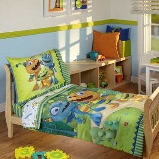 Henry Hugglemonster Juego de cama para niños pequeños de 4 piezas