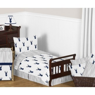 Juego de ropa de cama para niños pequeños Woodland Deer de 5 piezas