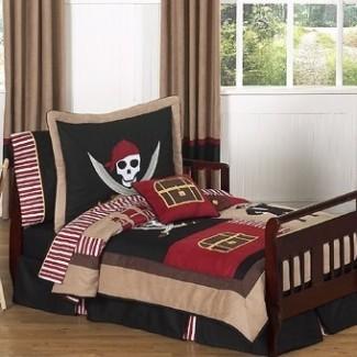 Juego de ropa de cama para niños pequeños de 5 piezas Pirate Treasure Cove
