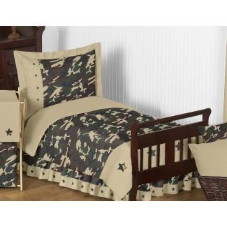 Juego de cama Camo de 5 piezas para niños pequeños
