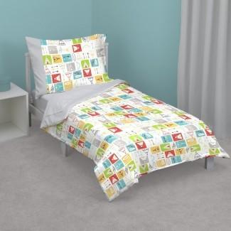 Jennings Teepee Juego de cama para niños pequeños de 4 piezas