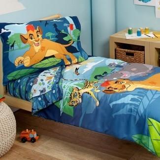 Lion Guard - Juego de ropa de cama para niños pequeños Prideland Adventure de 4 piezas