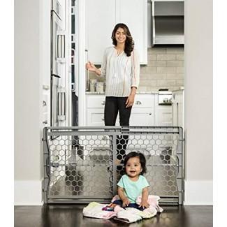 Puerta de bebé extra ancha ajustable ajustable de plástico Regalo Easy Fit