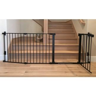 Puerta de escalera para niños pequeños de seguridad extra ancha. El | Baby Safe