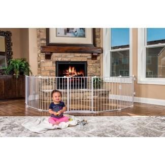 Parque infantil de metal extra ancho para mascotas, seguridad para perros, interior