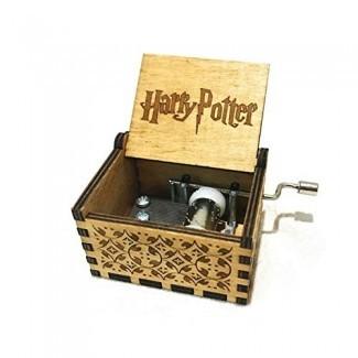 Leegoal Harry Potter Music Box, caja musical de manivela manual Grabado a mano Classic Hedwig Theme Musical Box Gift para niños para niños