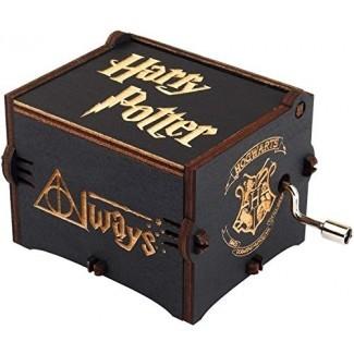 Disfruta de The Wood Compatible con el tema de Hedwig Caja de música de Harry Potter Movimiento de manivela mágico personalizado de madera Hogwarts Movimiento