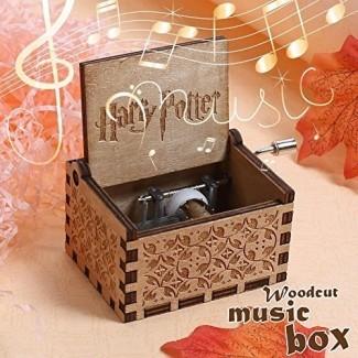 Anysell88 Caja de música de Harry Potter Caja de música de madera grabada Juguetes interesantes Regalo de Navidad